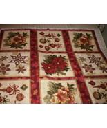 "Holiday Flourish Peggy Toole Robert Kaufman 12 Large Fabric Blocks 10"" x 10"" - $19.95"