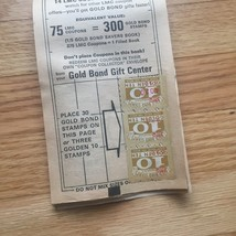 Vintage set of 3 Gold Bond Savers books - all include stamps in books image 5