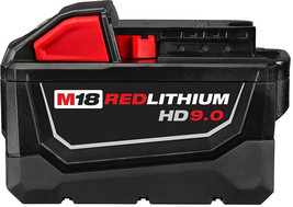 Milwaukee Power Tool Battery Pack 9.0Ah 18-Volt Lithium-Ion Rechargeable - $208.95