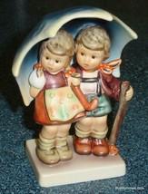 Stormy Weather Hummel Figurine #71/2/0 TMK8 Boy & Girl Under Umbrella With Box! - $231.83