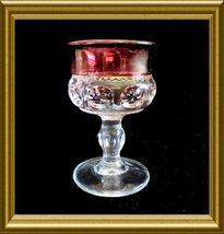 Set of 6 Tiffin Liquor Cocktail Goblets  Ruby Flashed King's Crown patte... - $18.00