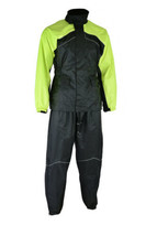 Motorcycle Gear Weather Protection Hi-Viz Yellow Rain Suit by Daniel Sma... - $89.95