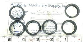 LOT OF 6 NEW ALL WORLD MACHINERY SUPPLY SER-22.4 O-RING SEALS SER224
