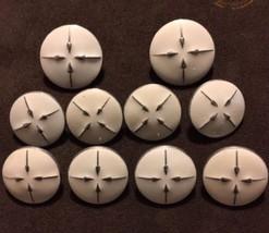 10 Etcetera Cream Arrow Metal Blazer Jacket Buttons Lot 1457 - $29.69