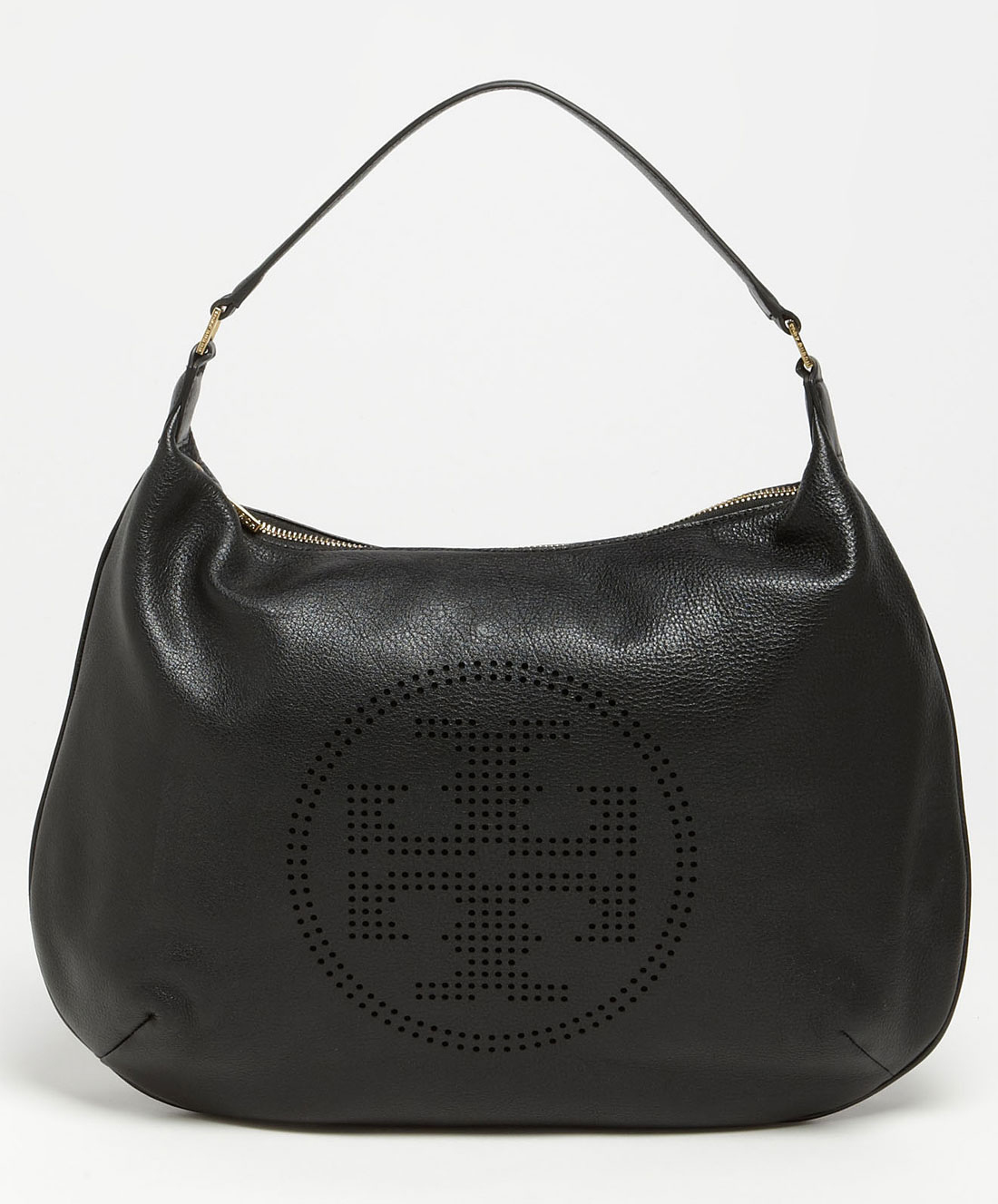 Tory burch black perforated logo hobo product 2 5629559 965538162.jpeg