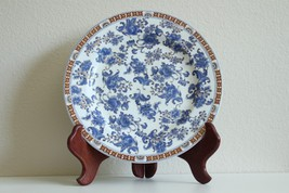 "Beautiful Blue and White Floral Pattern Plate with Gold Accent 10.5"" Dia - $69.28"