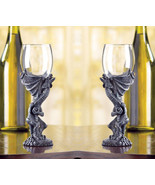 SET OF 2 DRAGON GOBLETS NEW! - $33.44