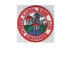 Boy Scouts of Canal Zone BSA March Camporee 1977 CZ Council Panama 3 inches diam - $9.99
