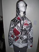 WOMEN'S/JRS BILLABONG PUMP IT UP REVERSIBLE HOODIE BLACK/WHITE/RED  NEW ... - $29.99