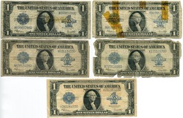 Collection of Five, Series of 1923 $1 Silver Certificates Large Notes Fr... - $125.00