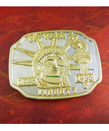 Patriot BUCKLE Vintage Statue of Liberty God Bless AMERICA Clothing Acce... - $70.00