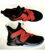 Nike LeBron Soldier XII 12 Bred Basketball Shoes Size 13 Mens Black Red - $126.21