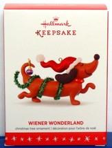 2016 Hallmark Keepsake Dachshund Dog Christmas Ornament Wiener Wonderlan... - $55.90