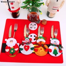 12pcs Christmas Decoration 2018 Cutlery Suit Silveware Holders Porckets ... - $24.27