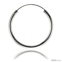 Sterling Silver Endless Hoop Earrings, thick 3 mm tube 1 1/2 in  - $42.42