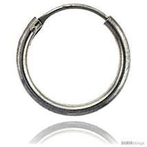 Sterling Silver Endless Hoop Earrings, 2 mm tube 5/8 in  - $17.01