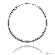 Sterling Silver Endless Hoop Earrings, 2 mm tub... - $22.64