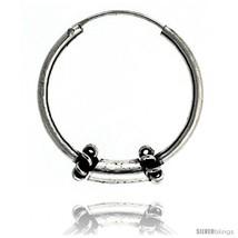 Sterling Silver Medium Bali Hoop Earrings, 1in   - $37.16