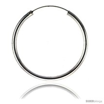 Sterling Silver Endless Hoop Earrings, thick 3 ... - $39.93