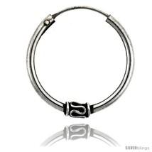 Sterling Silver Medium Bali Hoop Earrings, 15/16in   - $19.91