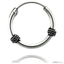 Sterling Silver Small Bali Hoop Earrings, 11/16... - $16.51