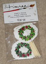 New Timree Party Picks Holiday Hostess Wreaths 12 pc. - $1.99