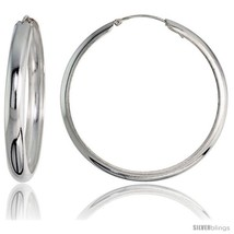 Sterling Silver Italian Pirate Hoop Earrings, 2 in (50  - $62.50