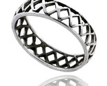 Sterling silver crisscross cut out wedding band ring band 3 16 in wide thumb155 crop