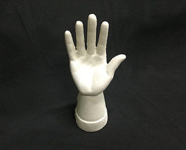 Cast Iron Hand Ring Holder Antiqued White Color - $16.82