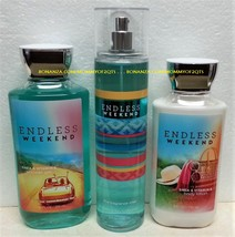 Endless Weekend Bath and Body Works Fragrance Mist Body Lotion Shower Gel - $33.00