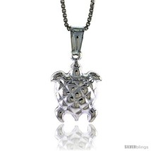 Sterling Silver Turtle Pendant, Made in Italy. 9/16 in. (15 mm)  - $15.73