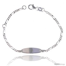 Sterling Silver Baby ID Bracelet with Heart  - $17.67