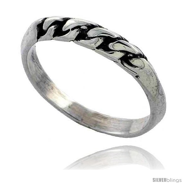 Sterling silver rope wedding band ring