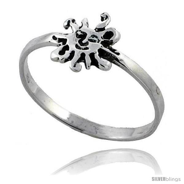 Sterling silver sun ring 3 8 wide style tr603