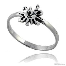 Size 9.5 - Sterling Silver Sun Ring 3/8 wide -Style  - $13.98