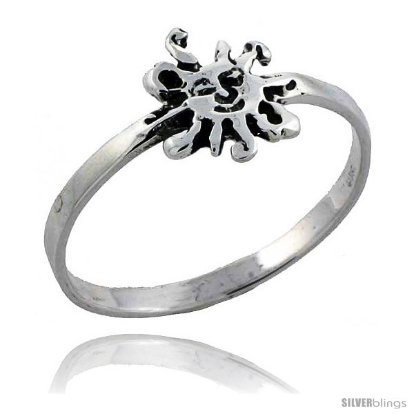 Size 9.5 - Sterling Silver Sun Ring 3/8 wide -Style
