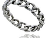 Sterling silver cable chain link wedding band ring 3 16 in wide thumb155 crop