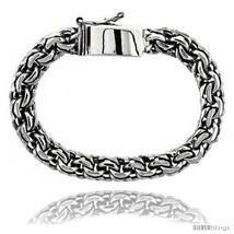 Length 8.5 - Gent's Sterling Silver Garibaldi Link Bracelet Handmade 3/8... - $386.40