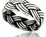 Sterling silver southwest design wire braid band 5 16 in wide handmade thumb155 crop
