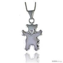 An item in the Jewelry & Watches category: Sterling Silver Large Teddy Bear Pendant, Made in Italy. 1 in. (25 mm)