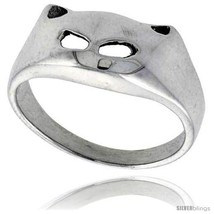 Size 6.5 - Sterling Silver Cat Face Ring 7/16 in  - $19.15