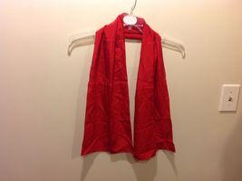 Vera 100 Silk Tout Soie Bright Red Silk Scarf image 4