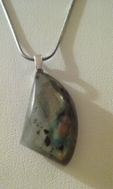 Handmade Genuine Natural Labradorite Gemstone Pendant On Chain Necklace 6 - $8.99