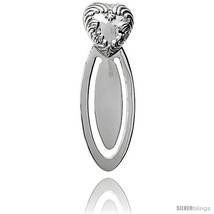 Sterling Silver Floral HEART Bookmark Clip 2 5/8 in. (66 mm)  - $47.97