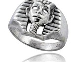 Sterling silver king tuts mask gothic biker ring 5 8 in wide thumb155 crop