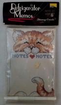 Stoney Creek Refrigerator Memos Cat Kitty Notes Counted Cross Stitch Heart - $14.46