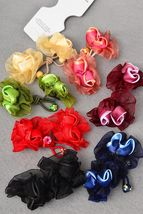 Rosetta Rosebud Ponytail Holders - $5.00