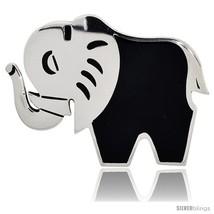 Sterling Silver Elephant Brooch Pin, 2 1/8in  (54 mm)  - $164.05