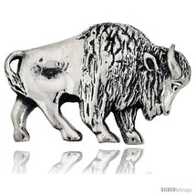 Sterling Silver Year of The Ox Zodiac Sign Brooch Pin, 1 11/16in  (43 mm)  - $76.14