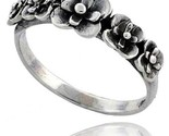Sterling silver flower link ring 5 16 in wide thumb155 crop